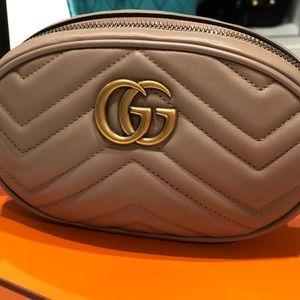 Gucci Marmont belt bag dusty rose (beige) sz 75